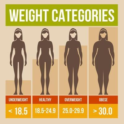 Body Mass Index Retro Poster by In-Finity