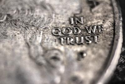 In God We Trust on US Quarter in Macro View