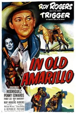 IN OLD AMARILLO, US poster, from left: Estelita Rodriguez, Roy Rogers, 1951