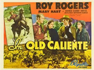 IN OLD CALIENTE, inset: Roy Rogers, far left: Roy Rogers, second from left: Mary Hart, 1939.