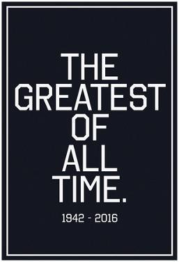 In Respects To The G.O.A.T. 1942 - 2016 Vintage White