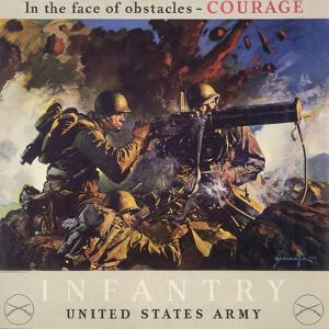 In the Face of Obstacles - Courage, Infantry-United States Army