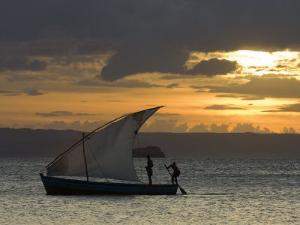 Fishing Boat at Dawn, Ramena Beach, Diego Suarez in North Madagascar by Inaki Relanzon