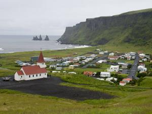 Town of Vik, South Coast of Iceland by Inaki Relanzon