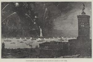 Inauguration of Bartholdi's Huge Statue of Liberty at New York