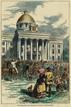 Inauguration of Jefferson Davis at Montgomery