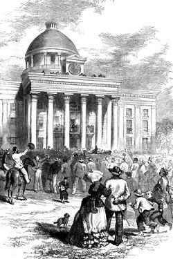 Inauguration of Jefferson Davis, Montgomery, Alabama, 1861