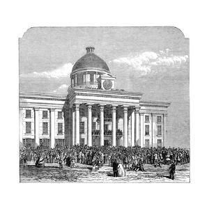 Inauguration of Jefferson Davis, President of the Confederacy, Montgomery, Alabama, 1861