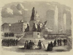 Inauguration of the Wellington Memorial, at Manchester