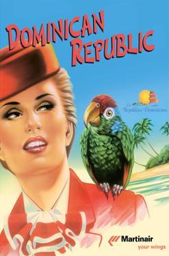 Dominican Republic - Martinair by Inc. Island Art