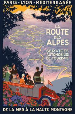 The Alpine Route - Services Automobiles de Tourisme (Automobiles Tourism Services) by Inc. Island Art