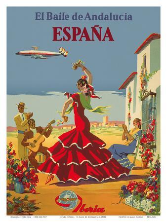 España (Spain)- Iberia Air Lines of Spain - Flamenco Dancers