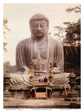 The Great Buddha of Kamakura (Daibutsu) Statue - K?toku-in Temple, Japan