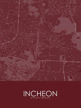 Incheon, Korea, Republic of Red Map