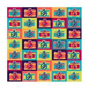 Seamless Pattern In Retro Style With Cameras by incomible