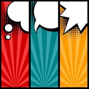 Set of Speech Bubbles in Pop Art Style by incomible