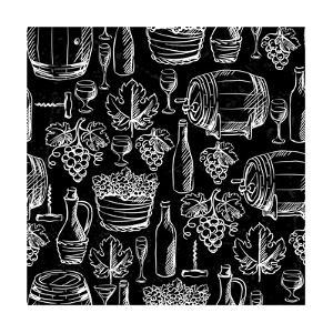Wine Pattern Drawn by Chalk by incomible