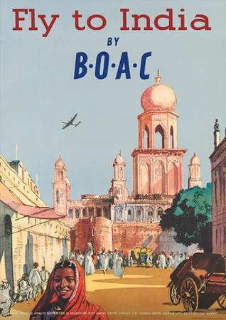 India by BOAC c.1955