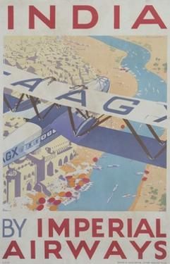 India by Imperial Airways Poster