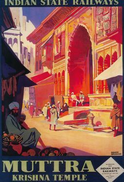 India - Muttra Krishna Temple Travel Poster