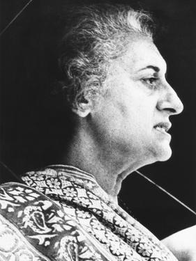 India's Prime Minister Indira Gandhi Speaks to Supporters on June 18, 1975
