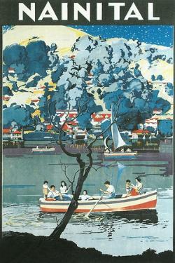 India Travel Poster, Nainital