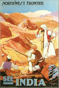 India Travel Poster, Northwest Frontier