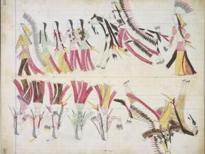 Indian Dance, Illustration from the 'Black Horse Ledger', 1877-79