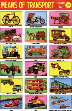 Indian Educational Chart - Means of Transport
