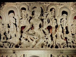Lintel Featuring Hindu Trinity, from Waranal, Andhra Pradesh, Kakatiya Dynasty (Stone) by Indian