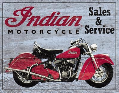 Indian Motorcycles Sales and Service Tin Sign
