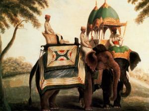 Indian Elephants II by Indian School