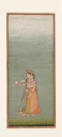 Two Court Ladies with Fireworks, c.1725 by Indian School