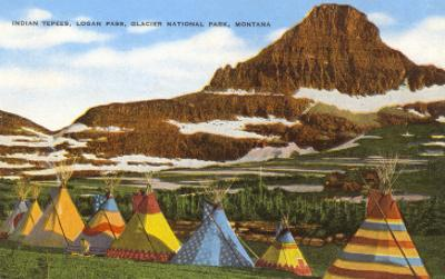 Indian Tepees, Glacier Park, Montana
