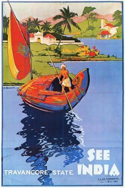 Indian Travel Poster, 1938