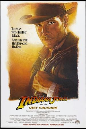 Indiana Jones and the Last Crusade, US Advance Poster, Harrison Ford, 1989