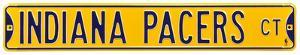 Indiana Pacers Ct Yellow Steel Sign
