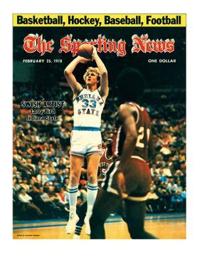 Indiana State Sycamores Forward Larry Bird - February 25, 1978