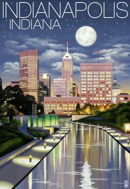 Indianapolis, Indiana - Indianapolis at Night