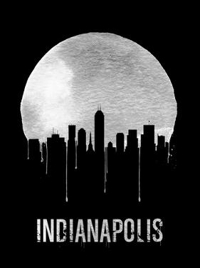 Indianapolis Skyline Black
