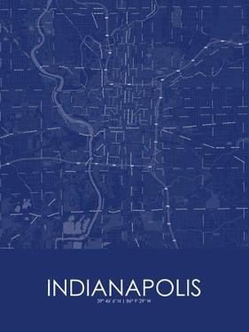 Indianapolis, United States of America Blue Map