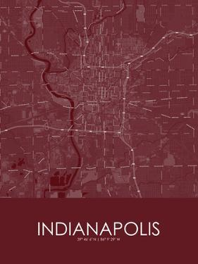 Indianapolis, United States of America Red Map