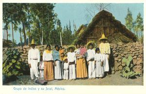 Indians with Shack, Mexico