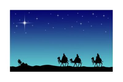 Three Wisemans and the Star of Bethlehem by IndianSummer