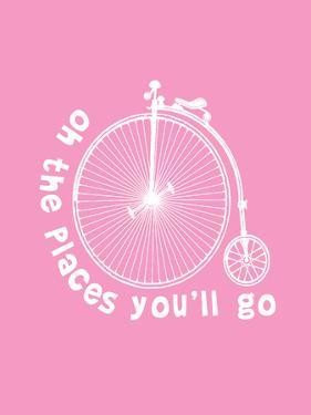 Dr Seuss Bike Pink by Indigo Sage Design