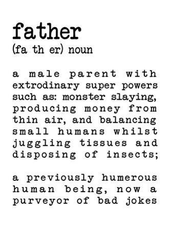 Father Definition White by Indigo Sage Design