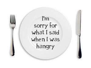 Hangry Sorry Plate by Indigo Sage Design