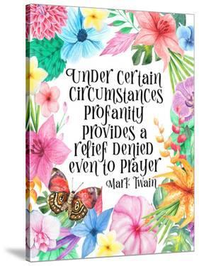Mark Twain Quote Floral by Indigo Sage Design