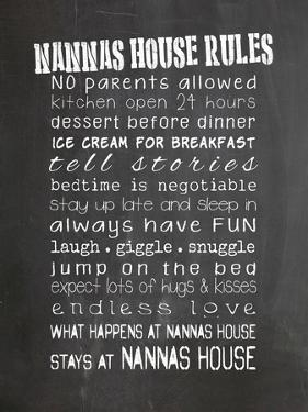 Nannas House Rules by Indigo Sage Design