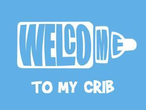 Welcome Crib Blue by Indigo Sage Design